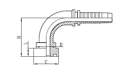 Desegno de 4SH Hose Assembly Fitting